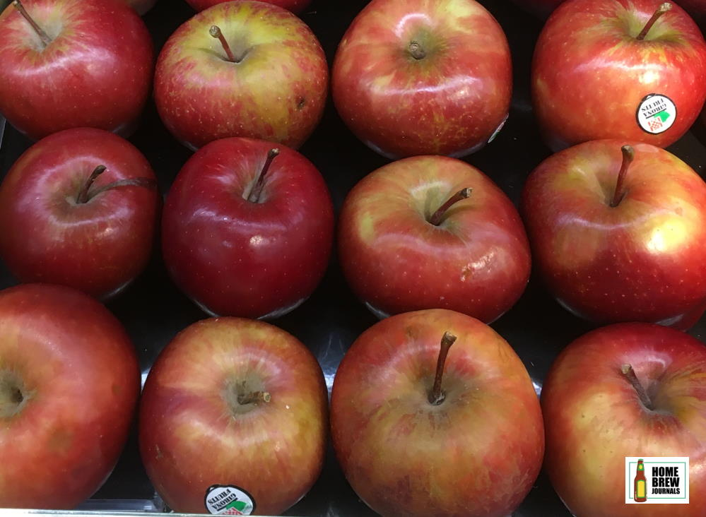 A tray of red apples, photo taken to illustrate the cider fermentation timeline article