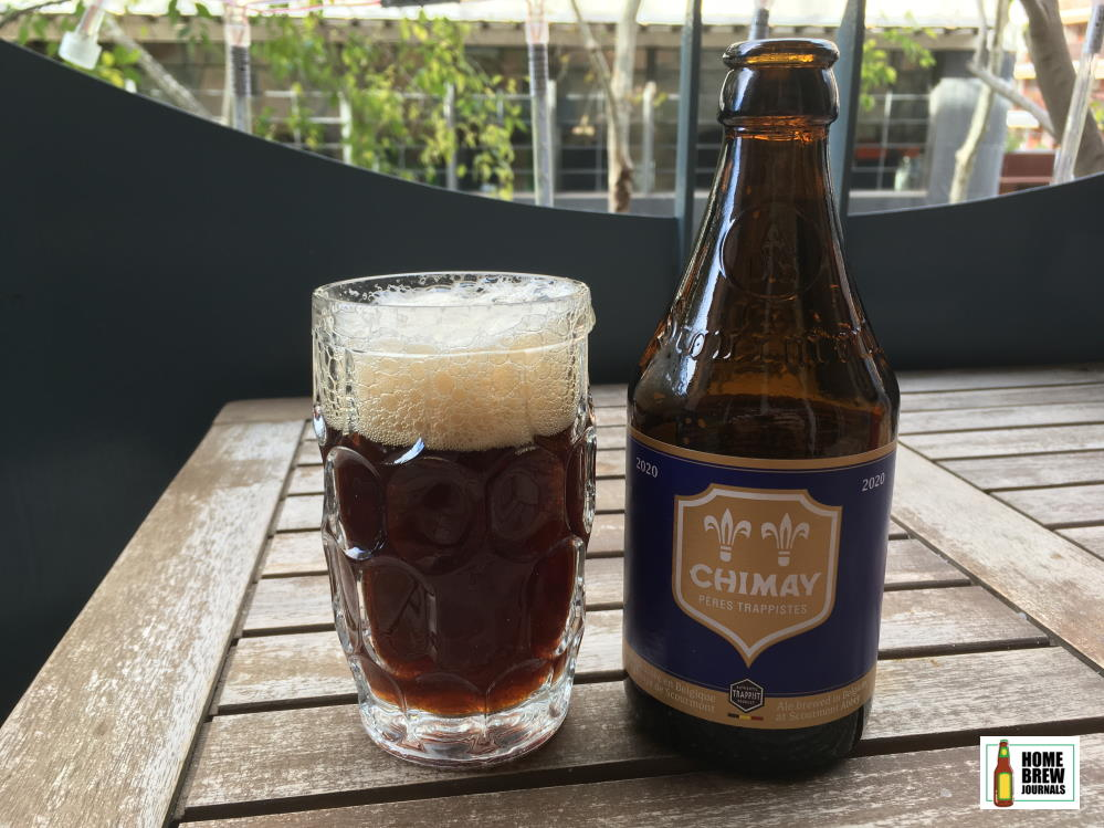 A bottle of Chimay Trappist beer from Belgium